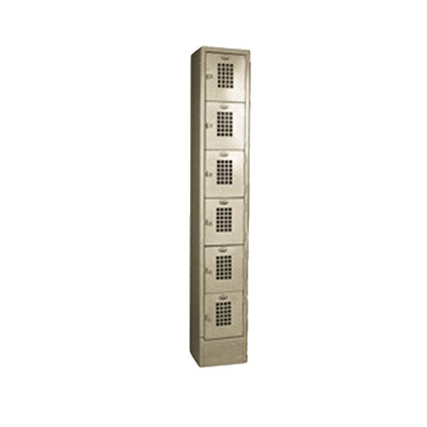 Main Picture  sc 1 st  WebstaurantStore & Winholt WL-66 Single Column Six Door Locker with Perforated Doors ...