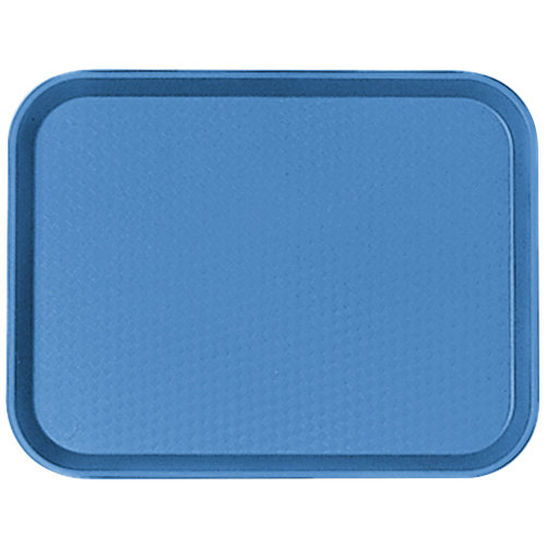 "Cambro 1216FF168 12"" x 16"" Blue Customizable Fast Food Tray - 24/Case"