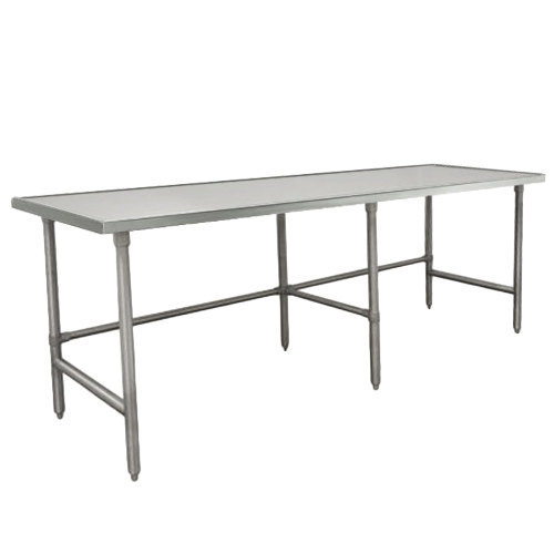 "Advance Tabco TVSS-369 36"" x 108"" 14 Gauge Open Base Stainless Steel Work Table"