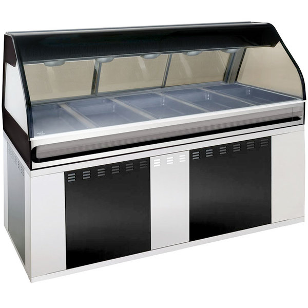 Alto-Shaam EU2SYS-72 BK Black Cook / Hold / Display Case with Curved Glass and Base - Full Service, 72""