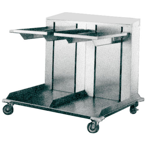 "APW Wyott Lowerator CTRD-1418 Double Mobile Open Cantilever Tray Dispenser for 14"" x 18"" Trays"