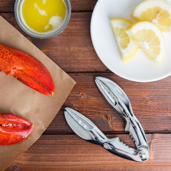 "Tablecraft 511 5 1/2"" Chrome-Plated Zinc Claw-Shaped Lobster / Shellfish Cracker"