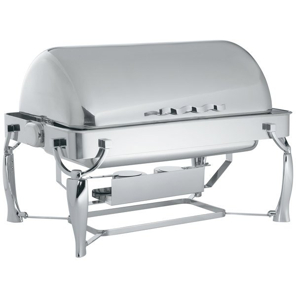 vollrath 9 qt somerville rectangular chafer fully retractable roll top