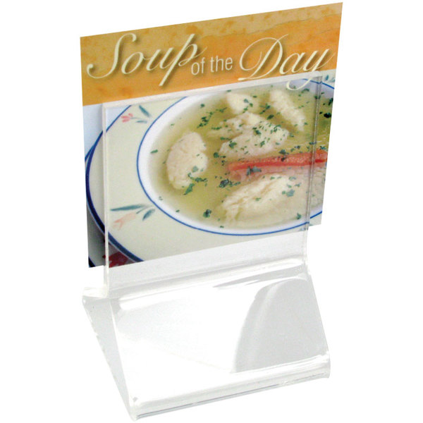 "Cal-Mil 591 Classic Standard 2 1/4"" x 2 1/4"" Acrylic Displayette"