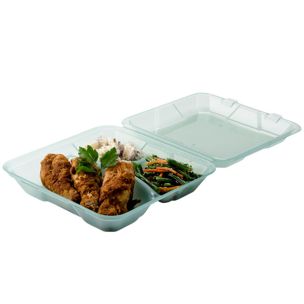 "GET EC-06 9"" x 9"" x 2 3/4"" Jade Green Reusable Eco-Takeouts Container - 12/Pack"