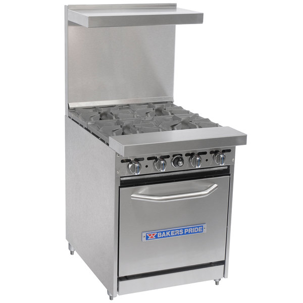 Restaurant Kitchen Gas Stove pride restaurant series 24-bp-4b-s20 natural gas 4 burner range
