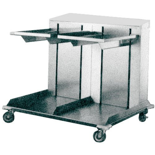 "APW Wyott Lowerator CTRD-1014 Double Mobile Open Cantilever Tray Dispenser for 10"" x 14"" Trays"