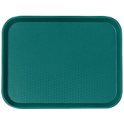 "Cambro 1014FF414 10"" x 14"" Teal Customizable Fast Food Tray - 24/Case"