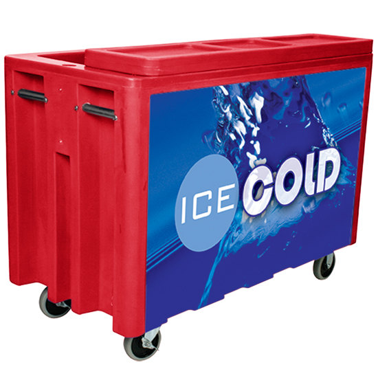 Red Arctic 720 Mobile 288 Qt. Cooler with Casters