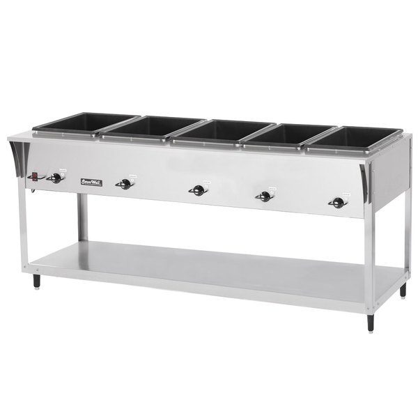 Vollrath 38205 ServeWell SL Electric Five Pan Hot Food Table 120V - Sealed Well