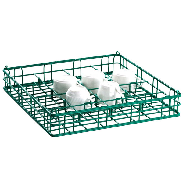 "16 Compartment Catering Glassware Basket - 4 1/2"" x 4 1/2"" x 3"" Compartments"
