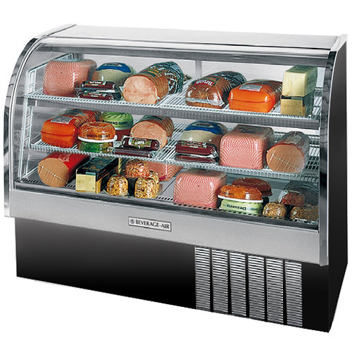 "Beverage Air CDR5/1-B-20 Black Curved Glass Refrigerated Bakery Display Case 61"" - 22.9 Cu. Ft."