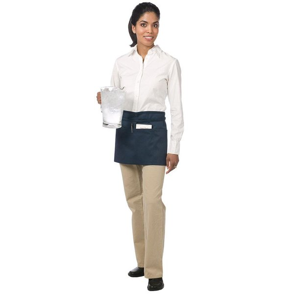 "Chef Revival 605WAFH-NV Customizable Navy Front of the House Waist Apron - 12""L x 24""W"