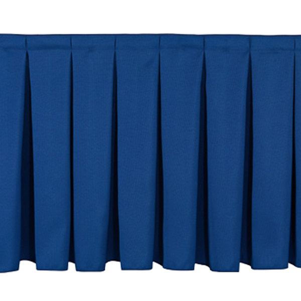"National Public Seating SB16 Navy Box Stage Skirt for 16"" Stage"