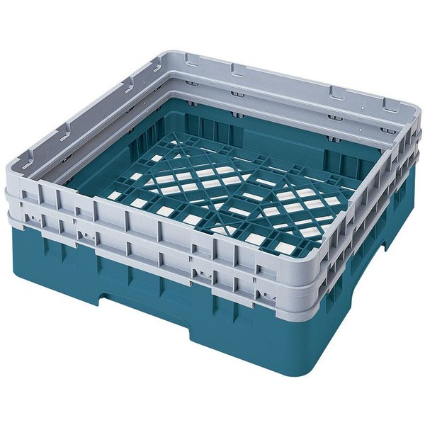 Cambro BR578414 Teal Camrack Customizable Full Size Open Base Rack with 2 Extenders