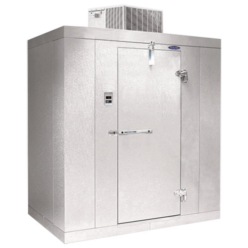 "Lft. Hinged Door Nor-Lake KLB7456-C Kold Locker 5' x 6' x 7' 4"" Indoor Walk-In Cooler without Floor"