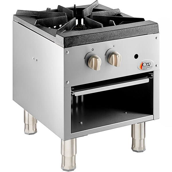 Cooking Performance Group CPG-SP-18-N Natural Gas Stock Pot Range - 80,000 BTU