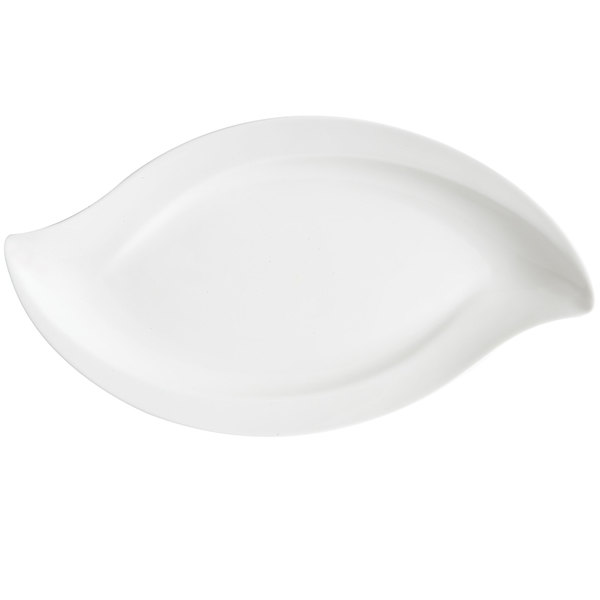 "GET ML-211-W 20"" x 12"" San Michele White Platter - 3/Case"