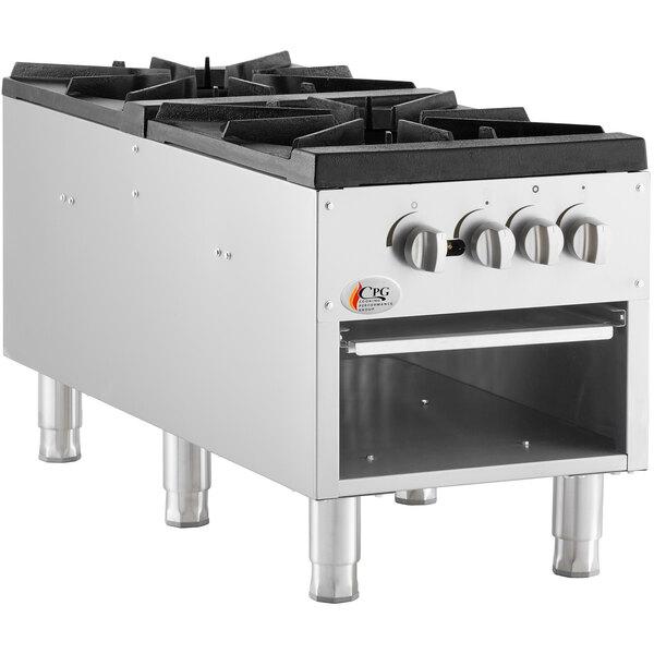 Cooking Performance Group CPG-DSPR-L Liquid Propane Stock Pot Range - 160,000 BTU