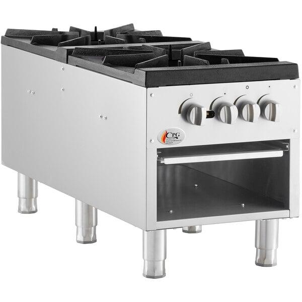 Cooking Performance Group CPG-DSPR-N Natural Gas Stock Pot Range - 160,000 BTU