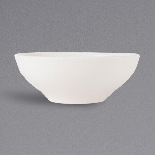 Tuxton Vwb 150a Tuxtrendz Zion Matte White 15 Oz China Soup Salad Bowl 36 Case