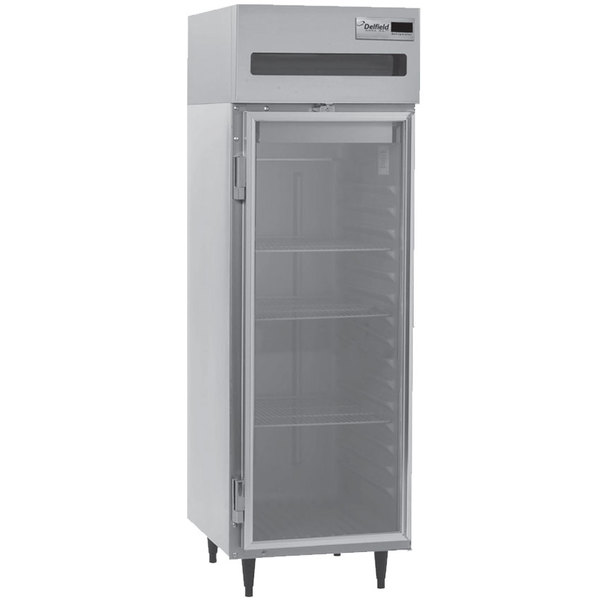 "Delfield 6025XL-G 26"" Glass Door Reach In Refrigerator - 20 Cu. Ft."