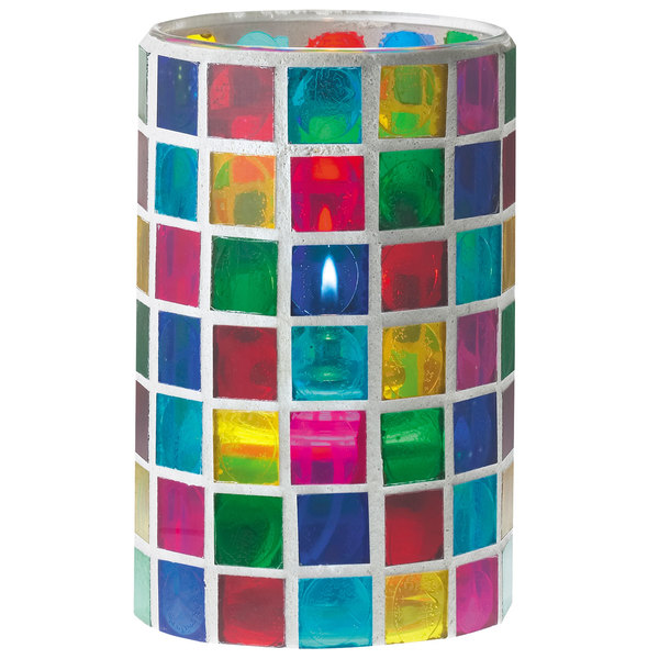 "Sterno Products 80200 3 1/8"" x 5"" Mosaic Candle Liquid Candle Holder"