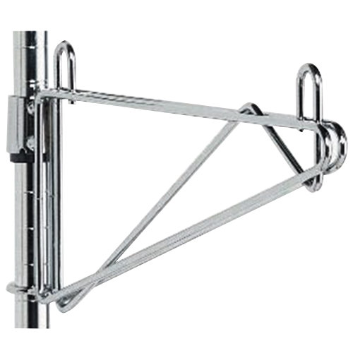 "Metro 1WS24S Super Erecta Stainless Steel Post-Type Wall Mount 24"" Shelf Support"