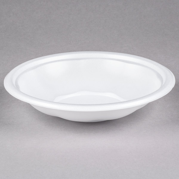 Genpak FW024 24 oz. White Foam Utility Bowl - 400/Case