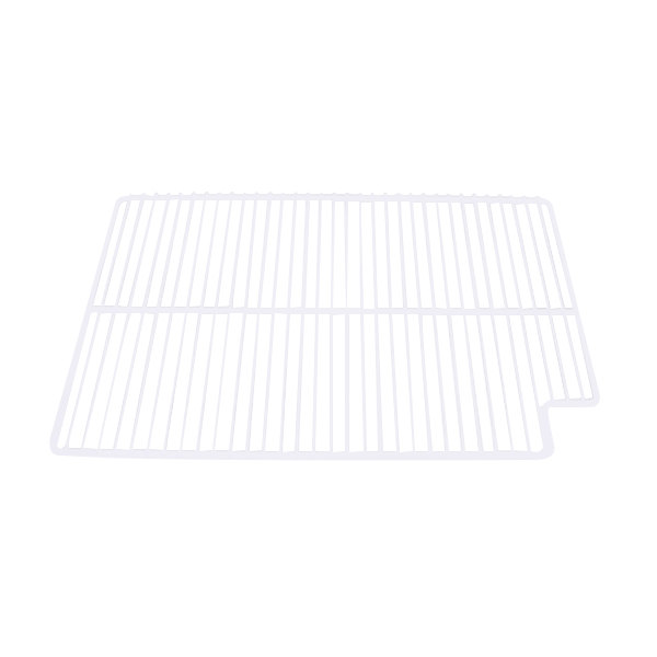 "True 908787 White Coated Left Wire Shelf - 21 9/16"" x 16"""