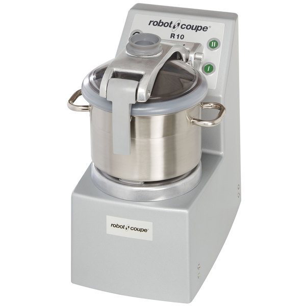 Robot Coupe R10 Ultra Vertical Food Processor with 10 Qt. and 4 Qt. Stainless Steel Bowls - 4 1/2 hp