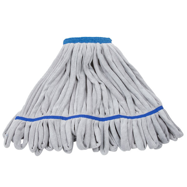 gray and blue microfiber mop head