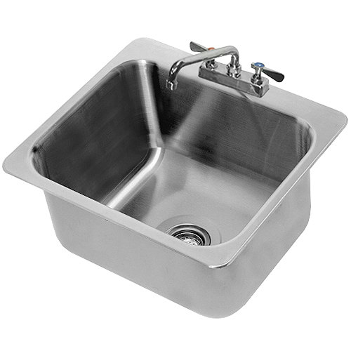 "Advance Tabco DI-1-2012 Drop In Stainless Steel Sink - 20"" x 16"" x 12"" Bowl"