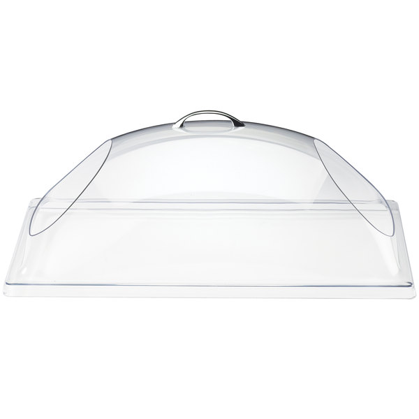 "Cal-Mil 323-12 Classic Clear Dome Display Cover with Double End Opening - 12"" x 20"" x 7 1/2"""