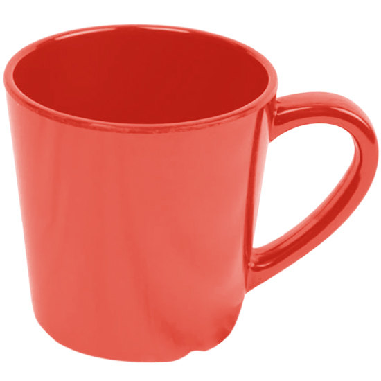 "Smooth Melamine 7 oz. Orange Mug - 3 1/8"" 12 / Pack"