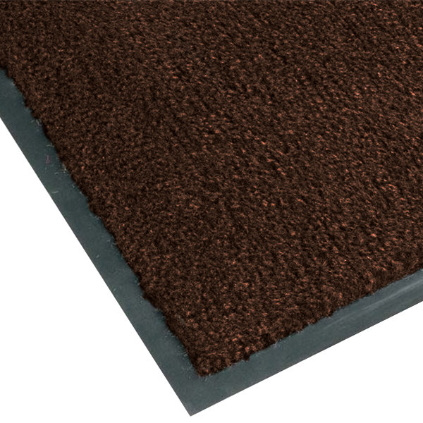 "Teknor Apex NoTrax T37 Atlantic Olefin 434-318 3' x 10' Dark Toast Carpet Entrance Floor Mat - 3/8"" Thick"