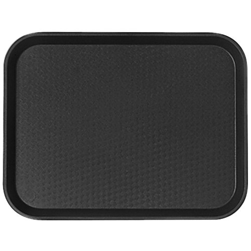 "Cambro 1014FF110 10"" x 14"" Black Customizable Fast Food Tray - 24/Case"