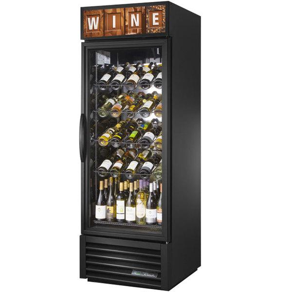 True Gdm 23w Hc Tsl01 Black One Glass Door Refrigerated