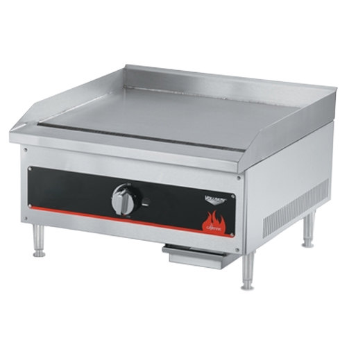 "Vollrath 40718 Cayenne 12"" Flat Top Gas Countertop Griddle - Manual Control"