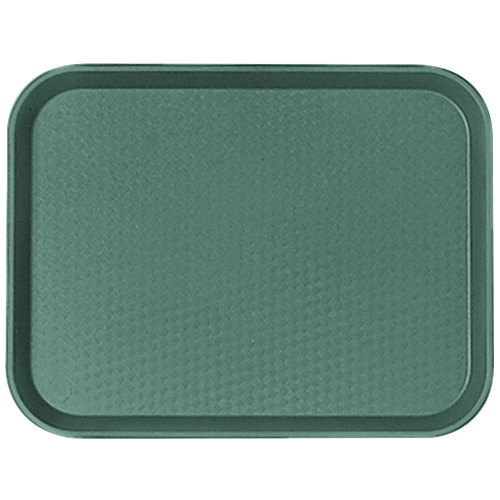 "Cambro 1216FF119 12"" x 16"" Sherwood Green Customizable Fast Food Tray - 24/Case"