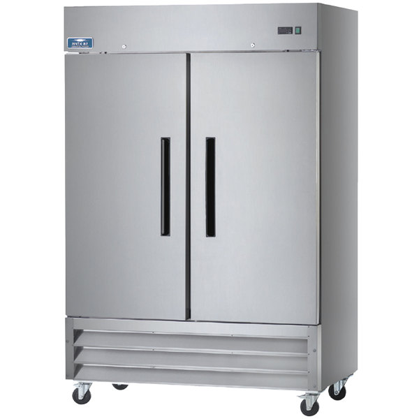 "Arctic Air AR49 54"" Two Section Solid Door Reach-in Refrigerator - 49 cu. ft."