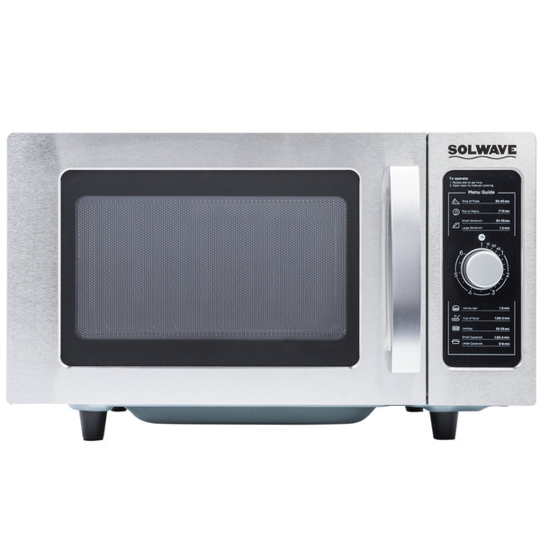 120 Volts Solwave Stainless Steel Commercial Microwave With Dial Control 120v