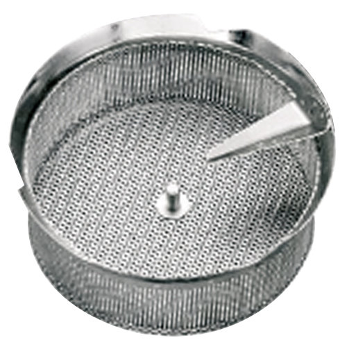 "Tellier P10020 5/64"" Perforated Replacement Sieve for 15 Qt. Food Mill on Stand - Tinned Steel"