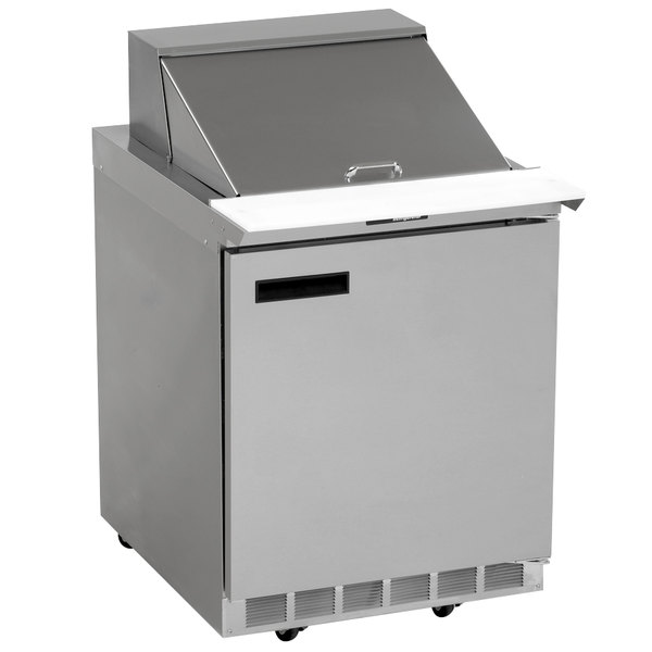 "Delfield UC4427N-12M 27"" 1 Door Mega Top Reduced Height Refrigerated Sandwich Prep Table"
