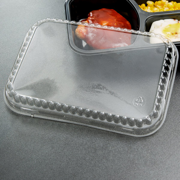 Genpak 95357 Bake 'N Show Clear Dome Lid for 55357 Dual Ovenable Brownie / Cake Pan or 55337 Food Pan - 250/Case
