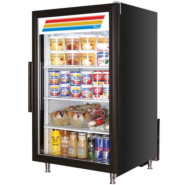 True GDM-7 | Black Countertop Glass Door Refrigerated Merchandiser ...