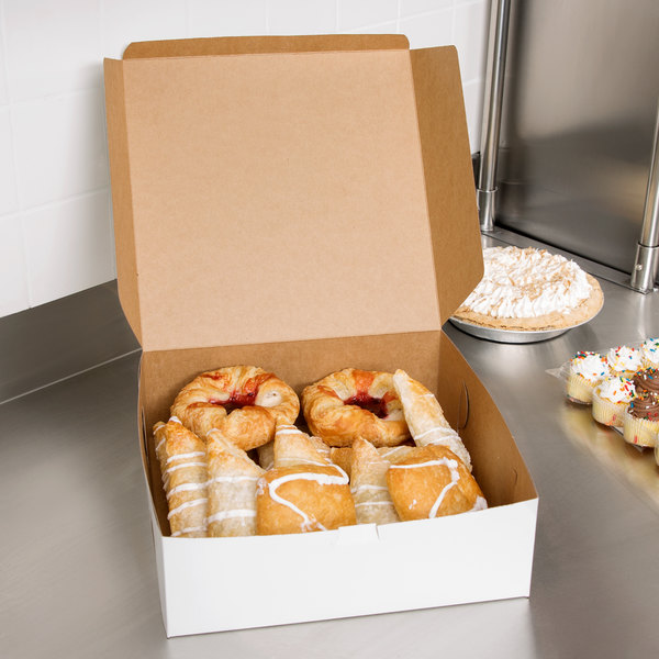 "Southern Champion 985 12"" x 12"" x 4"" White Cake / Bakery Box - 100/Bundle"