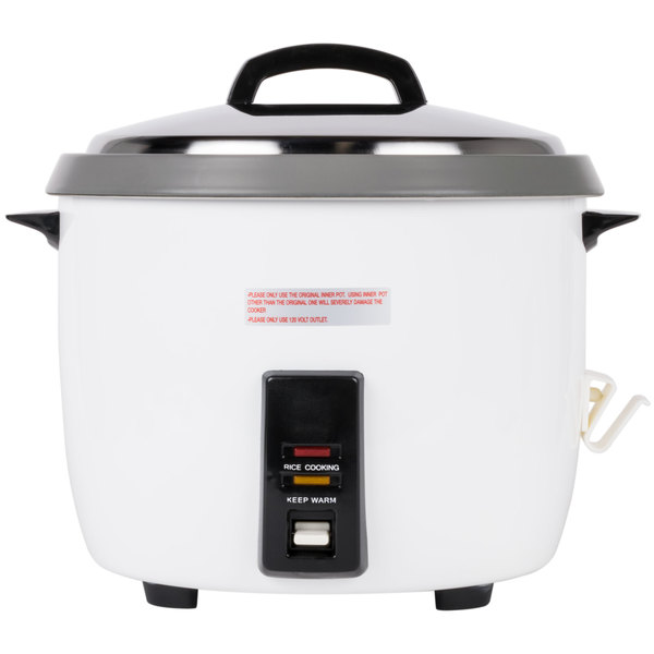 c211e0b4c 120 Volts Thunder Group 60 Cup (30 Cup Raw) Non-Stick Commercial Rice Cooker  ...