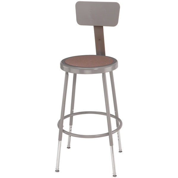 National Public Seating 6218hb 19 Quot 27 Quot Gray Adjustable