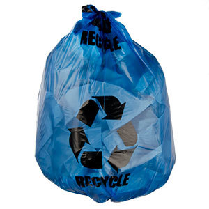 38 Gallon Blue Tint Linear Low Density Recycling Bag 1.2 Mil 100 ...